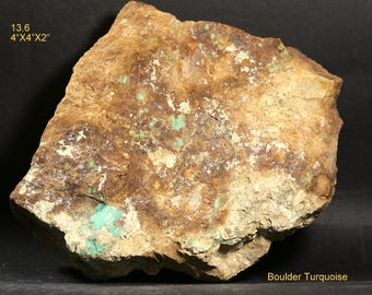 """Old Stock Churchill County Nevada Boulder Turquoise Rough 4""""X4""""2"""""""