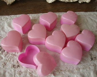 """heart favor boxes valentine's Day kids party favor boxes pink hearts gift boxes mini 2"""" candy containers diy valentine crafts supplies"""