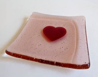Blush Pink Heart Plate by BPRDesigns