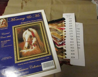 Counted Cross Stitch Kit Mommy & Me Near North Treasures Horse and Foal Dyan Allaire NNT-003 Count Cross Stitch