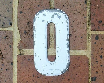 Vintage Metal Letter Sign Metal Letter O Sign Marquee Metal Letter O Sign Industrial Letter O Sign 6 Inches Tall