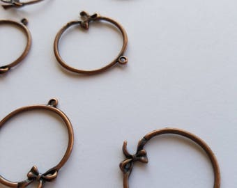 Copper circle charms
