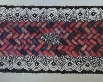 Zentangle Art - Lacy Wall