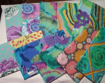 Clearance! 12 F8ths  Kaffe Fassett and Phillip Jacobs fabrics 12 Fat Eighths some duplicates