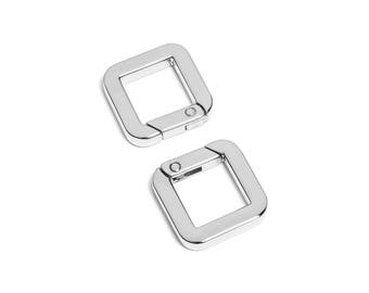 "2pcs - 9/16"" Square Gate-Ring- Nickel - Free Shipping (GATE RING GRG-200)"