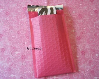 40 Bubble Mailers, Pink Mailers, Hot Pink Envelopes, Padded Mailer, Mailing Envelope, Padded Envelopes, Shipping Supplies 4x7