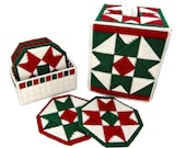 PATTERN: Christmas Quilt Decor in Plastic Canvas