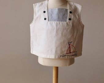 ON SALE 1940s Nautical Top~Size 18 Months to 2t