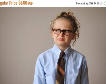 ANNIVERSARY SALE 1960s Striped Snapper Tie for Kids