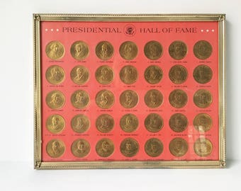President coin Set 35 bronze coins with holder 1968 Presidential coins