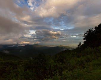 Blue Ridge Mountains Photo - Appalachian Trail, Blue Ridge Parkway, North Carolina, Smoky Mountains, Appalachian Mountains, North Carolina