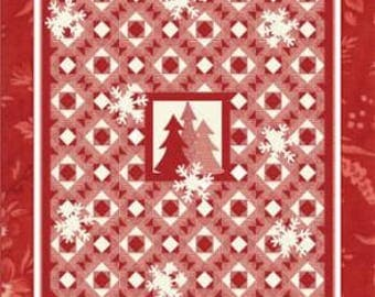 PATTERN PEPPERMINT CANDY Christmas Quilt with Full-Sized Templates
