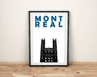 Montreal Print // Canada Print // Canadian Art // Montreal Art // Montreal Poster // Canadian Gift // Moving Away Gift // Gift for Couples