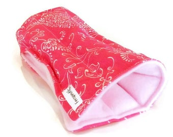 Wrist Warmer, Lightweight Microwave Heat Pack Cold Wrap, rice bag flax pad, pink brown circles