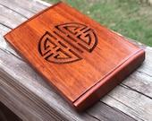 High Quality Oriental Design Wooden Business Card Holder