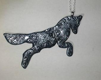 Coyote/Fox Textured Pendant