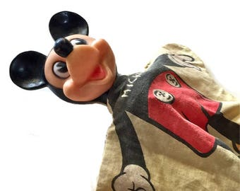MICKEY MOUSE puppet vintage Gund mid century toy Walt Disney Productions hand puppet vintage toy