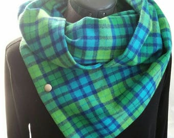 Flannel 3 way Snap Scarf