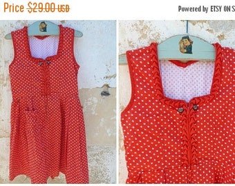 ON SALE Vintage 1970/70s Authentic Girl Dirndl Tyrol Austria German Dress  size 4/6 years