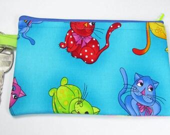 Funny Cats, wristlet wallet, smartphone wristlet, wristlet for iphone, iphone wristlet case, cellphone wallet, wristlet keychain