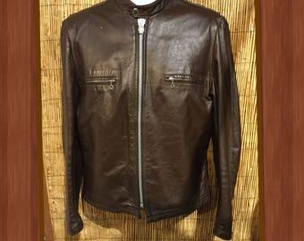 Vintage cafe racer leather jacket by Reed sportswear