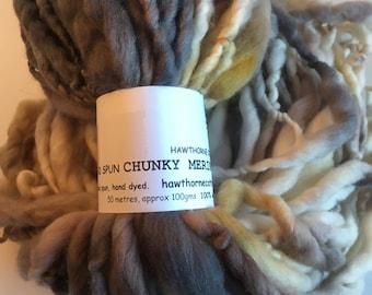 Black, brown and caramel Hand Spun Hand Dyed Merino Chunky 50 Metres