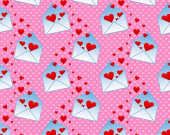 Love Letters valentine euro knit 1 yard
