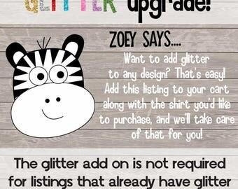 Glitter or Foil Vinyl Add On - Upgrade
