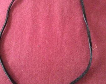 Suede Leather Black Choker