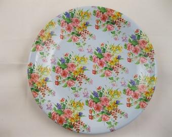 "8"" Flowered Plate"