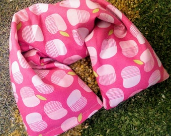 Microwave heating pad - Flaxseed Neck Wrap with Washable Pillow Cover GOTS Organic Cotton - Flax seed pillow - Microwavable Heat Pack - Gift