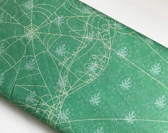 Witch Web Green - Riley Blake cotton woven fabric by the yard
