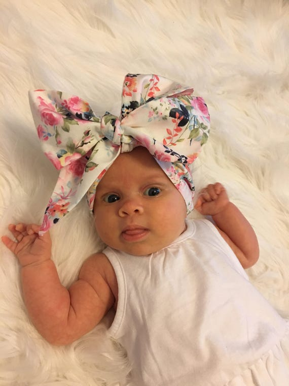 Shabby Roses Baby Headwrap