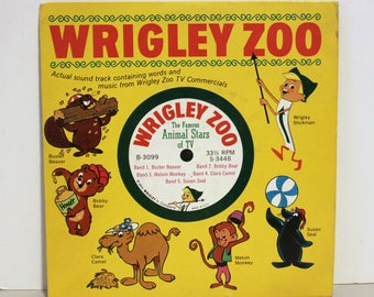 """Wrigley Zoo Chewing Gum TV Commercial Promo Record 7"""" 33rpm"""