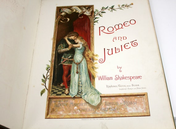 Anique Romeo and Juliet Book by Shakespeare Play, Tuck and Sons, Marchetti, Rossi, Cortazzo Painted Art