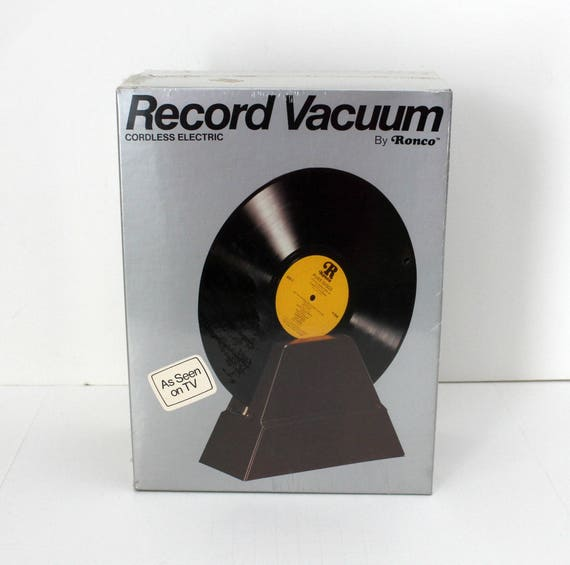 Vintage Ronco Record Vacuum, Sealed in Box, Vinyl Cleaner, As Seen On TV