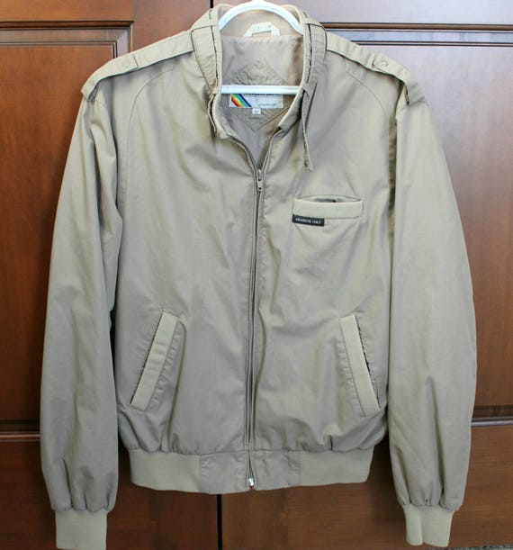 Vintage Members Only Jacket, 80s Mens Sz 42 Coat, 1980s Beige Putty Casual Jacket