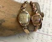 Vintage Wristwatches- WATCH PARTS Waltham- Bulova Ladies Wristwatch Lot Steampunk Jewelry Supply- Watches with Bands- B33