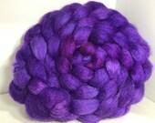 Reserve Judy BFL/Tussah Silk 50/50 Combed Top - 5oz - Royal Purple 1