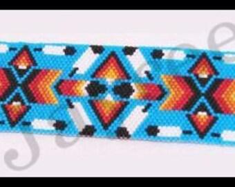 Bead Pattern - Peyote Feathers bracelet