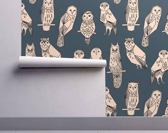 Owl wallpaper Etsy