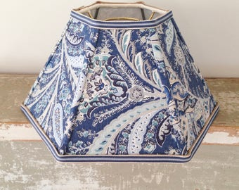 Blue hurricane lamp shade lampshade for oil lamp chimney paisley chimney lampshade blue hurricane lamp shade medium size handmade shade with designer fabric oil lamp mozeypictures Gallery