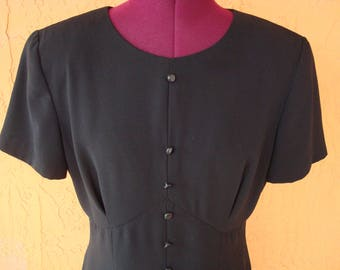 Stylish Vintage Liz Claiborne Dress, Empire Waist, Size 10, Fully Lined, Little Black Dress, Party Dress, Quality, Elegant