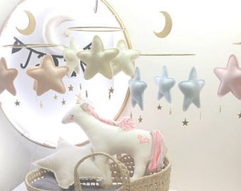 Star mobile-Neutral baby mobile-nursery mobile-baby shower gift-Star Mobile-Baby boy mobile-Baby Girl mobile-Neutral nursery