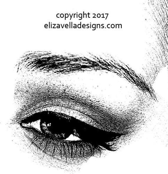 "womans eye long lashes png jpg clipart Digital Image Download eyeshadow makeup beauty art printable graphics 10"" x 10.3"""