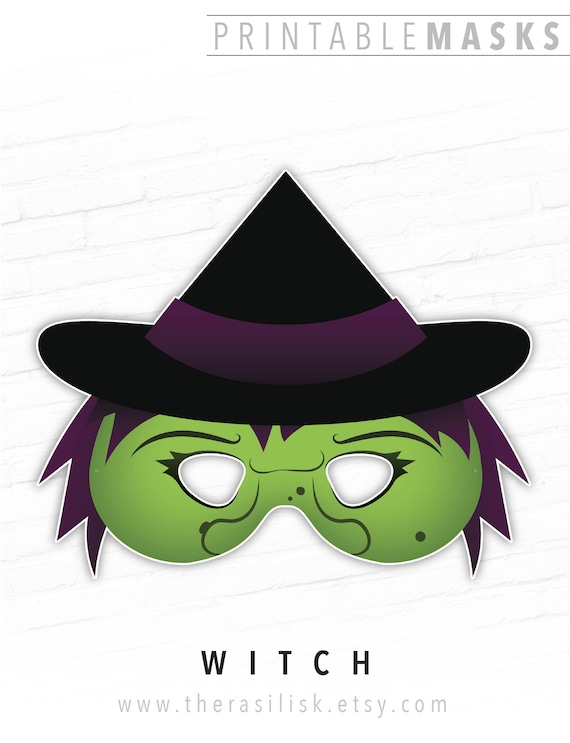 halloween mask printable mask witch mask wicked witch mask
