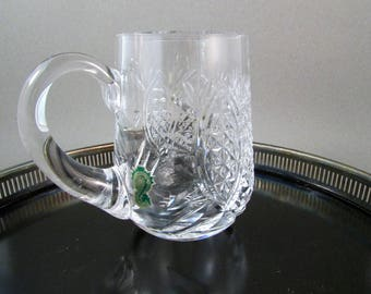 Vintage Waterford 14 oz Tankard Beer Mug Glass Made in Ireland Can Be Personalized Gift for Groom Gift for Best Man Father's Day Gift