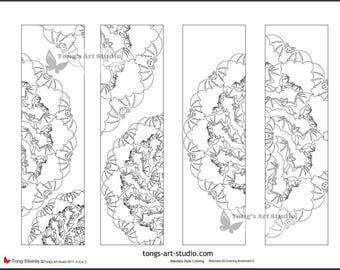 4 printable mandala coloring bookmarks 020 02halloween bookmarksbat bookmarks - Halloween Bookmarks To Color