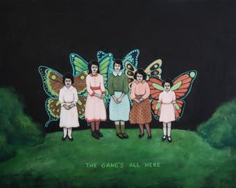 The Gang's All Here - Fine Art Print of Original Painting