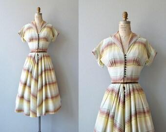Western Horizon dress | vintage 1950s dress | cotton 50s dress